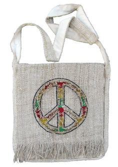 Hemp Peace Sign Purse Handbag with Rasta Colors -- Learn more by visiting the image link.