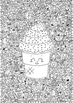 Doodle Invasion colouring book. Link shows all search results on Google. Various free printables on different sites.