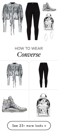 """""""Untitled #2145"""" by campbell765 on Polyvore featuring Converse, Brognano, Heron Preston, Vita Fede and StarOutfits"""
