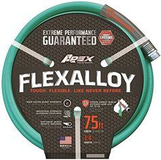 Apex Flexalloy Garden Hose  34in x 75ft Model 955075 >>> You can find out more details at the link of the image.