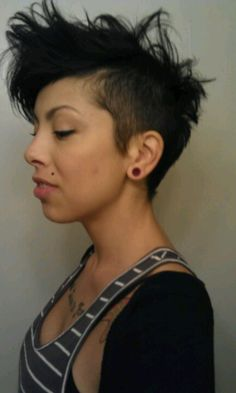 Short hair shaved side - someday when I decide to cut all my hair off again...