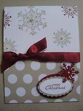 SNOWFLAKES, PEARLS & DOTS Christmas Card Kit (4 cards), Stampin Up