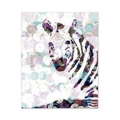 Purple Passion - ATCTTeam - Purple Zebra Sequin Print  8 x 10 by Zalooza on Etsy