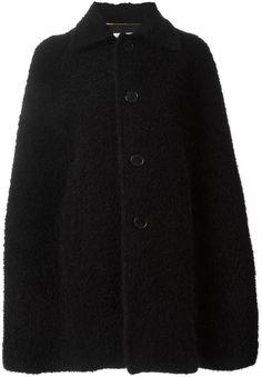 Saint Laurent buttoned cape