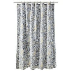 Threshold Paisley Shower Curtain - Yellow