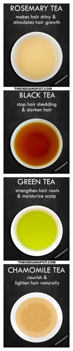 Rosemary, black, green tea for hair