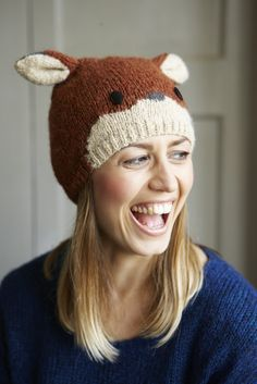 How to Knit a Fun Fox Beanie Hat (total time: 3 hours)