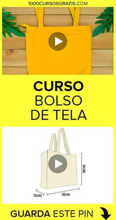 Mochila Tutorial, Diy Projects To Try, Sewing Projects, Fabric Bags, Easy Diy Crafts, Diy Clothes, Paper Shopping Bag, Reusable Tote Bags, Handmade