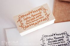 Love this customized stamp made in the artist's handwriting. Would make a fantastic wedding/graduation gift. :: Sophia Hand Drawn Rubber Address Stamp by ecdesign