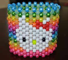 Hello Kitty Kandi Cuff by KandiKidsinKandiland on Etsy