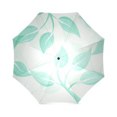 Green leaves on branches Foldable Umbrella (Model Green Leaves, Pouches, Branches, Travel Bags, Model, Accessories, Travel Tote