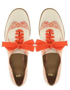 Image 3 ofASOS MOSAIC Embroidered Flat Shoes