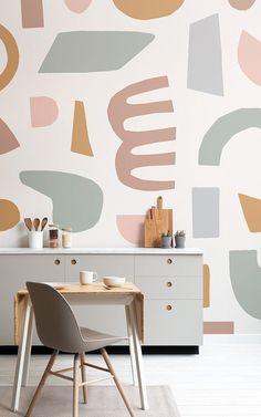 Matisse inspired cut out wallpaper for creative kitchen decor - Murals Wallpaper Unusual Wallpaper, Normal Wallpaper, Standard Wallpaper, How To Hang Wallpaper, Modern Wallpaper, Of Wallpaper, Designer Wallpaper, Matisse Cutouts, Colors