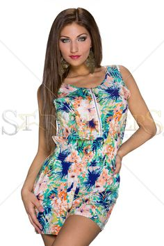 Hawaiian Girl Green Jumpsuit
