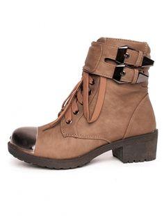 "Ghete ""Are You Metal"" Khaki Pret lei High Tops, High Top Sneakers, Wedges, Metal, Casual, Shoes, Fashion, Moda, Zapatos"