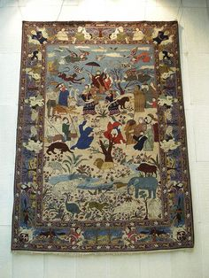 The Judgement of Soloman, Carpet Museum, Tehran, via Flickr.
