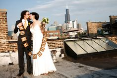 will + denise: wedding at chicago's mars gallery