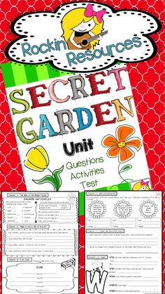 Totally Common Core!  Secret Garden Unit that includes oodles of reading skills aligned the Common Core.  Vocabulary Quiz and End of Unit Test included too!  $