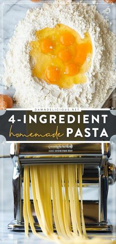 Grab the 4 ingredients and learn how to make pasta for your family dinner ideas! Nothing beats homemade comfort food. Check out the ways to use this fresh pasta dough recipe for an easy meal! All You Need Is, Easy Pasta Recipes, Easy Meals, Pasta Drying Rack, Food L, Fresh Pasta, Homemade Pasta, 4 Ingredients, Food Print
