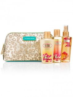 Kit Victoria's Secret NEW! Coconut Passion Leopard Clutch #Kit Victoria's #Secret