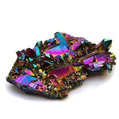 Titanium Rainbow Flame Aura Quartz