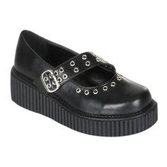 Demonia CREEPER-104 Platform Creeper Shoes - Demonia Shoes at SinisterSoles.com