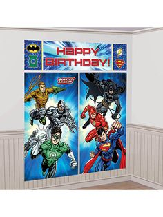 Looking for Justice League Scene Setter Wall Decorating Kit for your next party? Locate Birthday in a Box for the latest and party ideas & reduced prices.