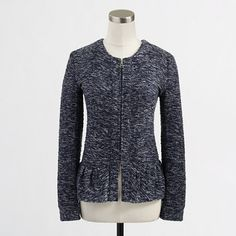 J. Crew Factory Bouclé Peplum Jacket - Update your work wardrobe with a chic jacket that channels a little old-school glamour