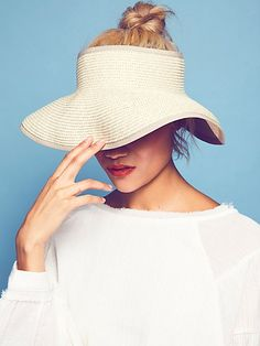 Color Splash Packable Visor from Free People! Straw Visor, Baker Boy Cap, Beach Attire, Fashion Articles, Summer Hats, Fashion Wear, Hats For Women, Color Splash, Spring Outfits
