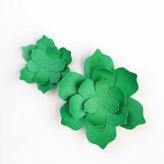 Freebie & Tutorial   Paper Succulent Gift Toppers – Scrap Booking