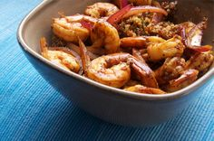 Light, healthy, and packed full of flavor, serve this zesty shrimp over quinoa for the perfect anytime dish. They say quinoa is good for you-but does it taste good? Entree Recipes, Dinner Recipes, Cooking Recipes, Healthy Recipes, Healthy Meals, Clean Recipes, Quick Meals, Clean Meals, Dinner Healthy