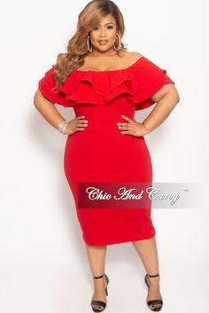 71063308f7e Final Sale Plus Size Off the Shoulder Ruffle Long Pocket Dress with ...