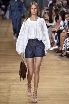A denim look from the Chloé spring/summer 2015 collection.