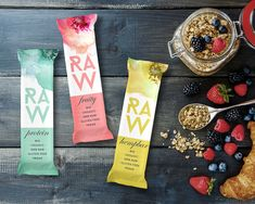 Project name: raw bar branding and packaging art director: martin kuspal ag Branding And Packaging, Food Packaging, Packaging Design, Product Branding, Product Label, Raw Energy Bars, Raw Bars, Protein Bar Brands, Protein Bars