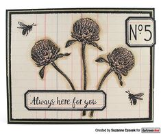 Card by Suzanne Czosek using Darkroom Door Warm Wishes and Lots of Labels Stamp Set Blooming Flowers, Summer Flowers, Always Here For You, Pretty Backgrounds, Distress Oxides, Walking In Nature, My Stamp, Flower Cards, Tim Holtz
