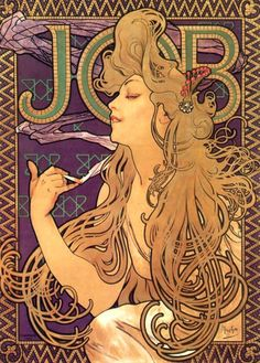 Job Cigarettes poster#1 by Alphonse Mucha