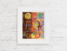 """Abstract Art Print Abstract Wall Modern Contemporary Art Print in Various Sizes On Archival Paper by Artist Amber McDowell. Giclee fine art print of my original acrylic painting """"Copacetic"""". AGiclee Archival prints are printed by a professional printing company on Esatin 300 gram paper. This paper has just the right amount of sheen to show the image perfectly. 100% archival inks are used and with 12 color process for perfect colors. *mat and frame not included."""