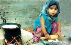 cute Muslim girl on Cook. Young Beautiful Hijabi in The Worlds Hijabers Cilik Cantik Sedunia http://hijabcornerid.com