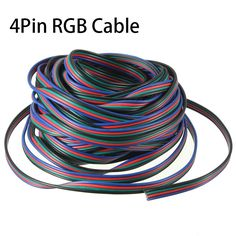Canali pin LED RGB Legare del Cavo 5 m 10 M 15 M 20 M 30 M Per 5050 3528 Luce di Striscia di Estensione Estendere Legare del Cavo connettore