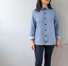 Grainline shirt as jacket