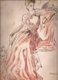 René Bouché Illustrated Fashion Editorial ...