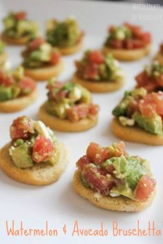 Food Blog Picnic: Watermelon  Avocado Bruschetta