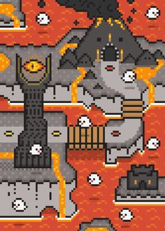 Lord of the Rings x Super Mario World Artist note: I put a walking path in here, but we all know that one does not simply walk into Mordor. I managed to to fit Barad-dur, Mount Doom, and the nine Nazgul, but ran out of room for The Black Gate. 8 Bits, Super Mario World, Super Mario Bros, How To Pixel Art, Barad Dur, 8 Bit Art, Pixel Art Games, Geeks, Lord Of The Rings