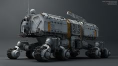 ROAMER - High Polygon Vehicle (Textured Render) by Christian Schumann | Sci-Fi | 3D | CGSociety