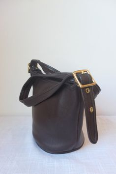 Vintage Coach Bag Chocolate Brown Leather with by StrangeFits