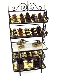 The English Kitchen Miniature Dollhouse Foods and Desserts Simply Chocolate