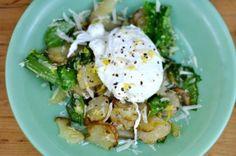 Warm Sorrel & Sunchoke Salad With A Poached Egg
