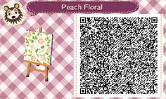 ✿ Animal Crossing New Leaf ✿ Peach Floral wallpaper , or Bedding, table cloth, any other furniture refurbish'able ;)