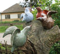 ceramic birds Ceramic Birds, Garden Sculpture, Sculptures, Outdoor Decor, Art, Art Background, Kunst, Performing Arts, Art Education Resources