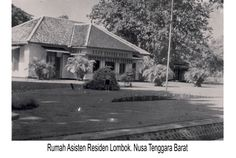 taman raja dan kolam pemandian di pulau lombok, NTB tahun 1925